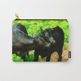 Two Forest Friends - Black Cattle Carry-All Pouch