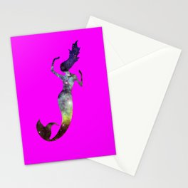 Galaxy Mermaid 2 (Pink) Stationery Cards