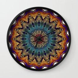 Mandala Sacred Geometry Prana Art Yoga Mantra Om Good Vibes Wall Clock