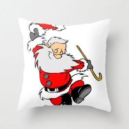 Dancing Santa Throw Pillow