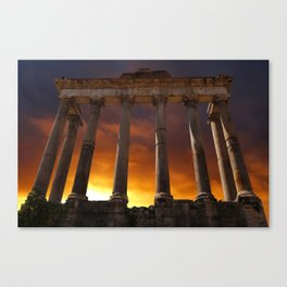 Temple of Saturn Ruins Canvas Print