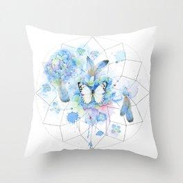 Dreamcatcher No. 1 - Butterfly Illustration Throw Pillow