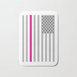 American Flag Pink Ribbon Breast Cancer Awareness Bath Mat
