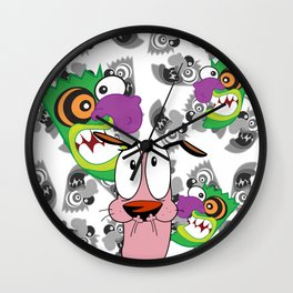 Ooga Booga Courage the Cowardly Dog  Wall Clock