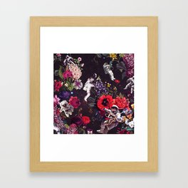 Flowers and Astronauts Framed Art Print