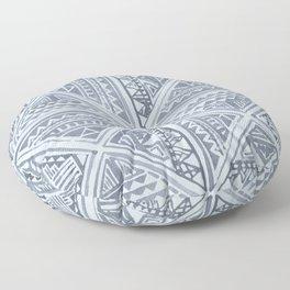 Simply Tribal Tile in Indigo Blue on Sky Blue Floor Pillow