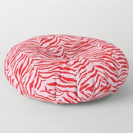 Tiger Print - Red and Pink Floor Pillow