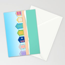 Brighton Beach Bathing Boxes, Melbourne, Australia Stationery Cards