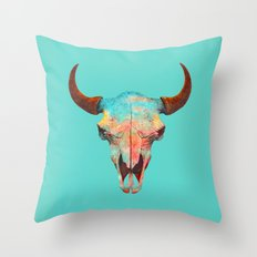 Turquoise Sky Throw Pillow