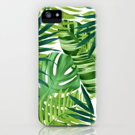 Tropical leaves III iPhone Case
