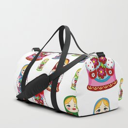 Russian nesting dolls pattern Duffle Bag
