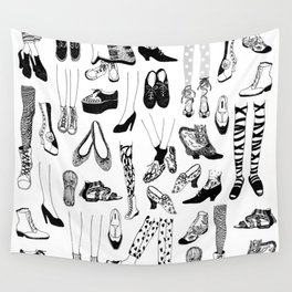 Legs and Shoes Pattern #1 Wall Tapestry