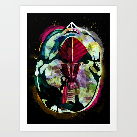 Head (Anatomy 08) Art Print