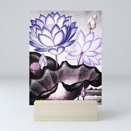 Pink Gray Lavender Sacred Egyptian Bean Temple of Flora Mini Art Print