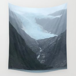 Retreating Glacier Wall Tapestry