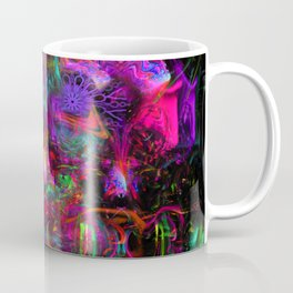 7 Temporal Spirits (psychedelic, psytrance, totem, fluorescent, visionary art) Coffee Mug