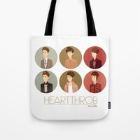 tegan and sara Tote Bags featuring Tegan and Sara: Heartthrob collection by Cas.