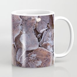 Fallen Oak Leaves Autumn Scene #decor #society6 #buyart Coffee Mug