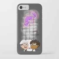 bathroom iPhone & iPod Cases featuring Bathroom (Gray) by Fishfranqz