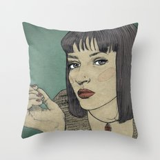 Mia (Mia Wallace Pulp Ficion) Throw Pillow