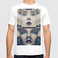 Facet_CD2 SMALL White Mens Fitted Tee