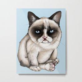Tard The Original Grumpy Cat Metal Print