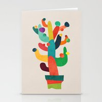cactus Stationery Cards featuring Whimsical Cactus by Picomodi