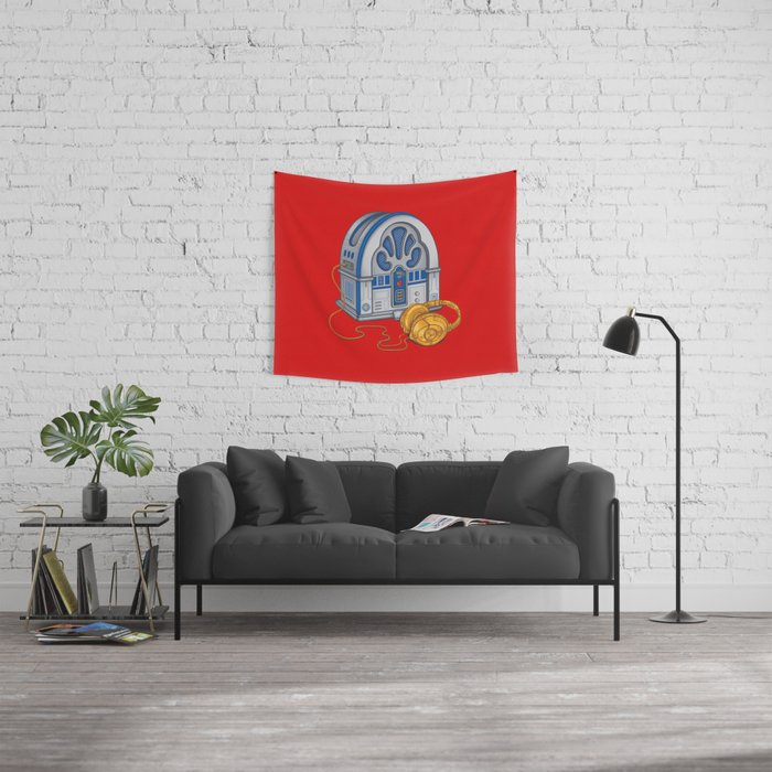 Beats by Droid - Recycled Future Wall Tapestry