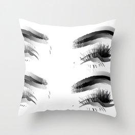 Sassy Eye Roll (Black and White) Art Print Throw Pillow