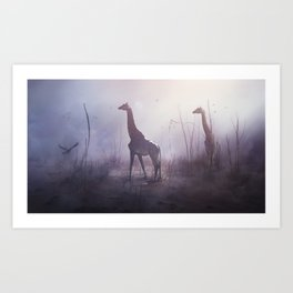 Longnecks Art Print