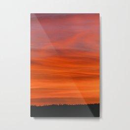 Fiery Sky Metal Print