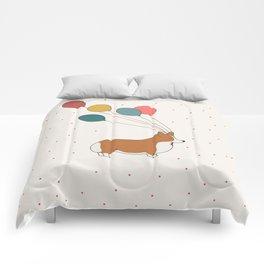 HAPPY NEW YEAR CORGI Comforters