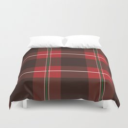 Red, Black and Green Striped Plaid Duvet Cover