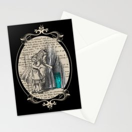 Follow The White Rabbit - Vintage Book Stationery Cards