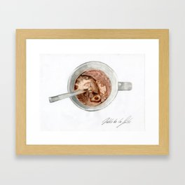 Breakfast mug Framed Art Print