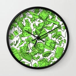 Vintage Gamer Green Wall Clock