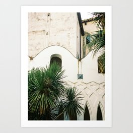 Italian architecture on the Amalfi coast | Travel photography Italy Europe Art Print