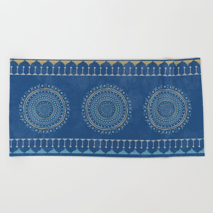 Astral Lullaby in Blue Beach Towel