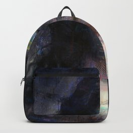 Vintage Woman Pop With Modern Highlights Blue Square Backpack