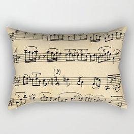 Antique Music Notes Rectangular Pillow
