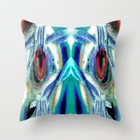 pain Throw Pillows featuring Pain by Robin Curtiss