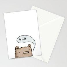 Growling Bear Stationery Cards