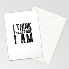 I think therefore I am - on white Stationery Cards