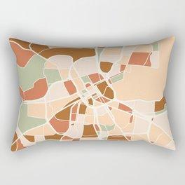 NASHVILLE TENNESSEE CITY MAP EARTH TONES Rectangular Pillow