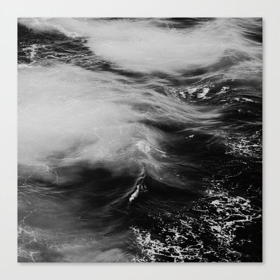 WAVES B&W Canvas Print