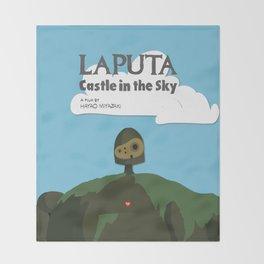 Laputa Castle in the Sky Throw Blanket
