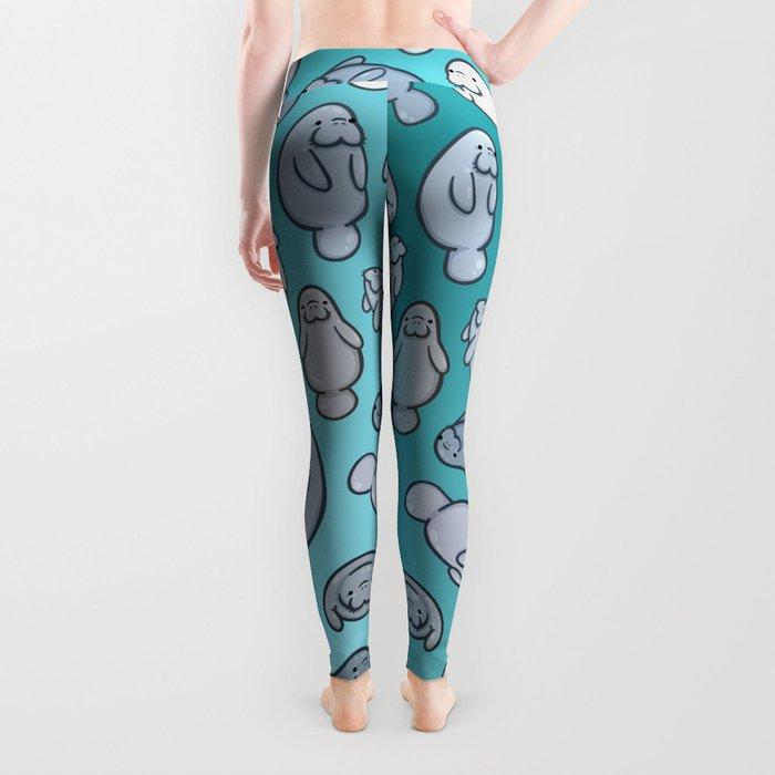 Manatee Pattern Leggings