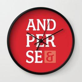 Ampersand Series - #5 Wall Clock