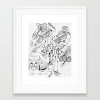 airplane Framed Art Prints featuring Airplane by ℳajd