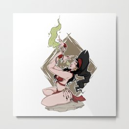 Summoning Chant - The Gypsy Witch Metal Print